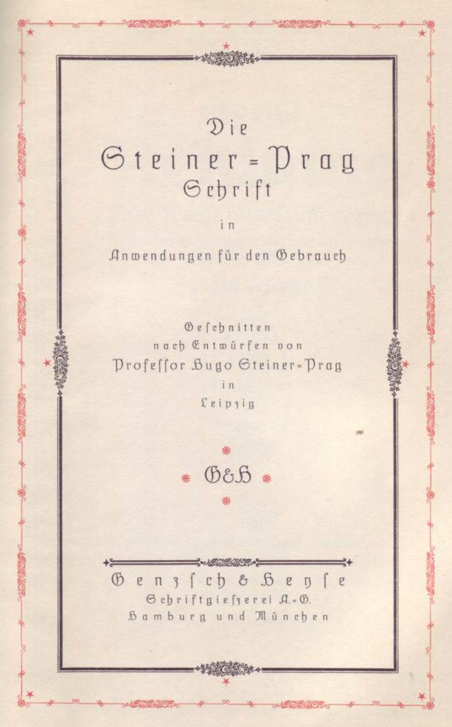 Schriftmuster Hugo Steiner Prag