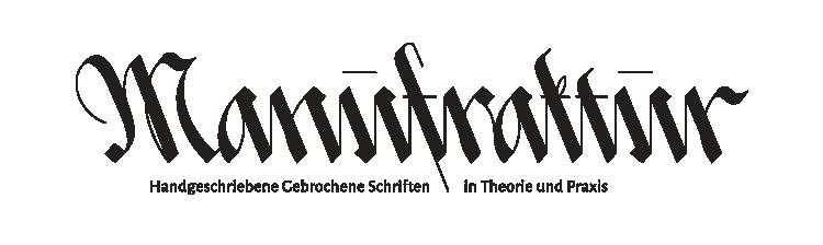 Manufraktur Logo mit Unterzeile