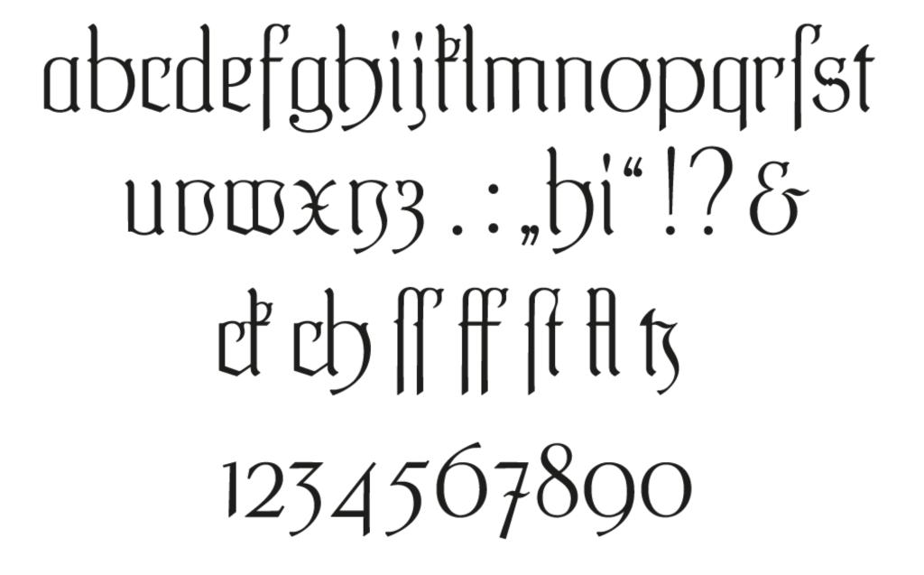 Steiner-Prag Schriftmuster Minuskeln