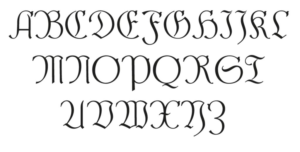 Steiner-Prag Schriftmuster Versalien