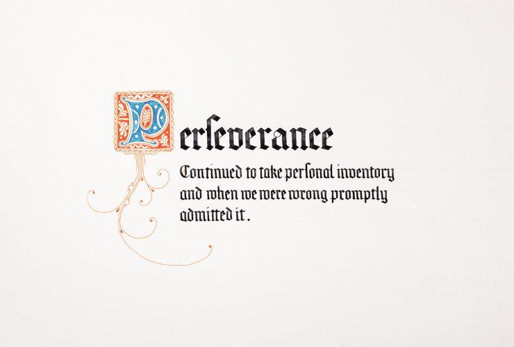 12 virtues Perseverance