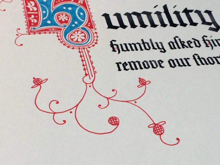 12 virtues Humility detail
