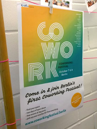 Coworking Festival Aushang