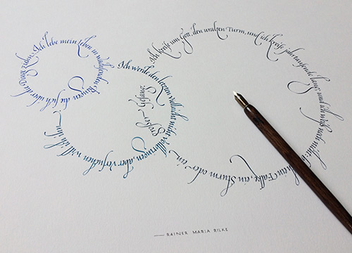 Rilke Gedicht Italics Breitfeder
