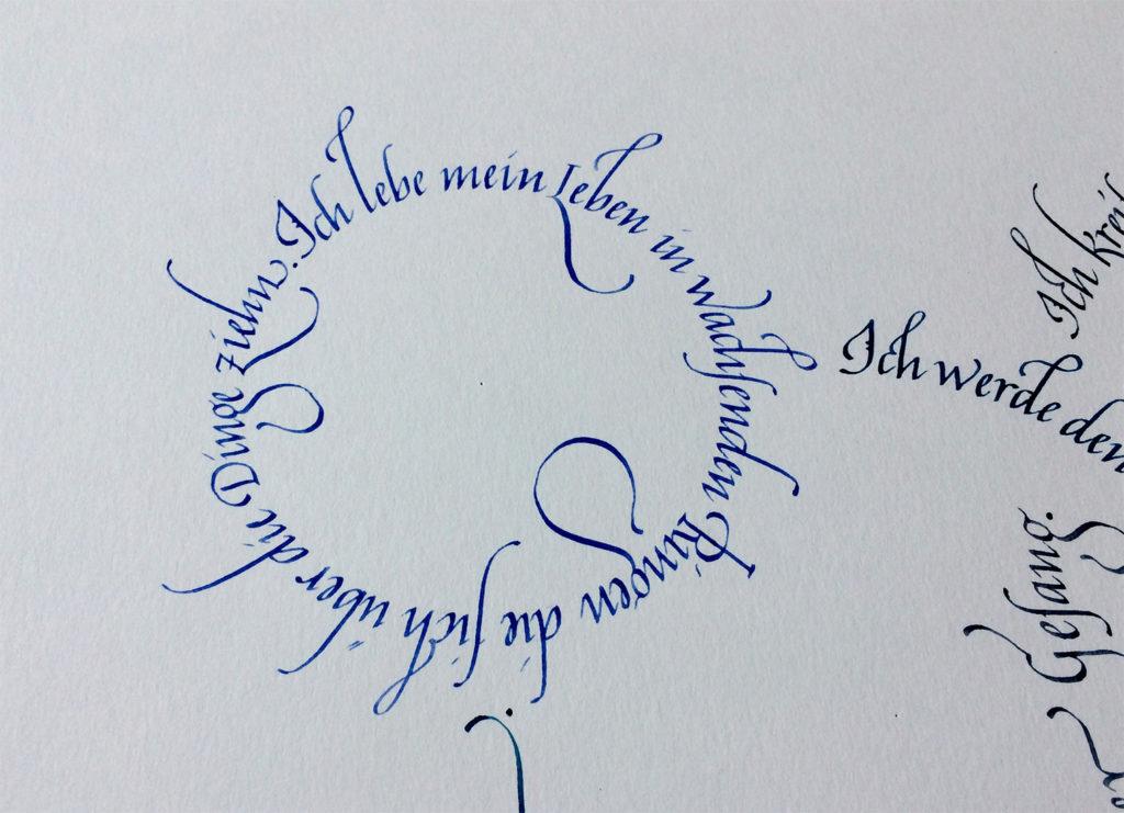 Rilke Gedicht Italics Detail