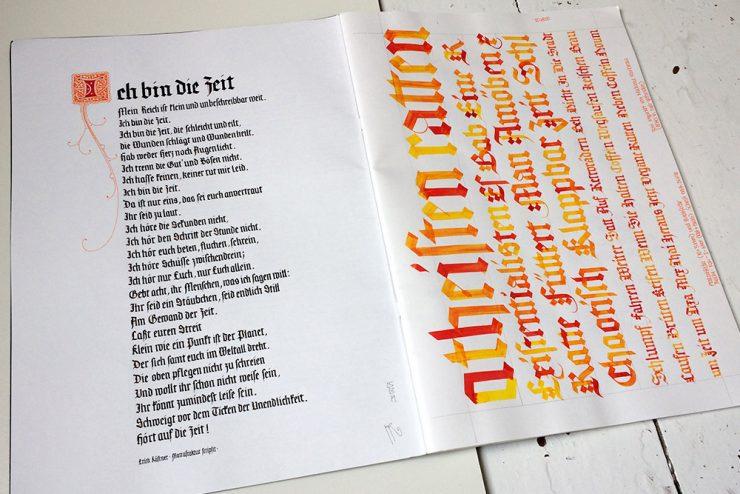 Kästner – Ich bin die Zeit Skizzenbuch