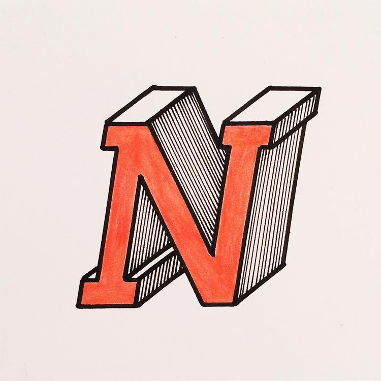 N konstruiert und slanted