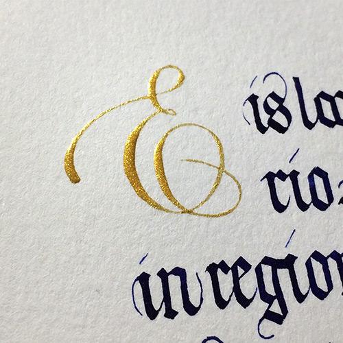 Inititial E Copperplate Script