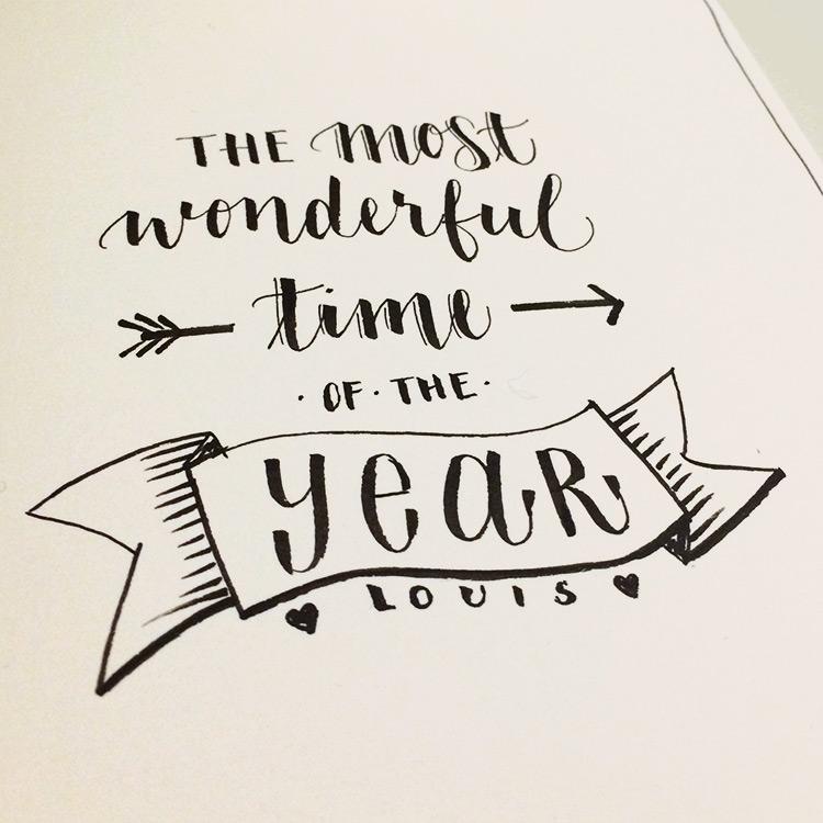 Most Wonderful Time Brush Script